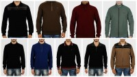 Full & Half Zipper & V-Neck Selanik Shirts for Men